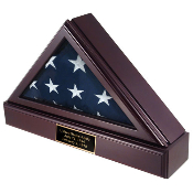 Service FLAG SHADOW BOX + Pedestal + Plate for 5ft x 9ft Flag - New