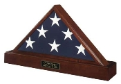 The beautiful National Pedestal Urn & Flag Case is skillfully crafted of fine Walnut or Cherry and made in the U.S.