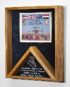 Military certificates and flag frames - combo flag case