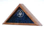 Burial military flag display case