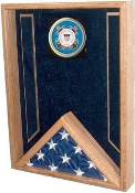 Navy Flag Display Case - Shadow Box