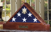 American Flag Case Pedestal For 5 x 9.5 Flag - Burial Flag