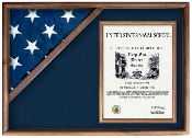 Flag and certificate Display Case | American Flag Box | Burial Flag Case