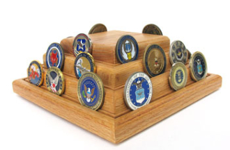 Military coins Display