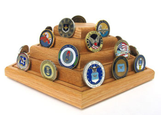 Geocoins Display, Geocoins coin Holder, Military Geocaching