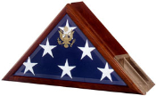 Funeral Flag Case, Flag and Urn Built in