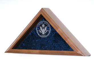 Personalized Flag Case, With Laser Engraved Glass For Large Flag