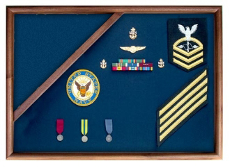 Coast Guard Flag Display, Medal Glass Display Case Shadow Box, Coast Guard Display