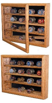 challenge coin display case,Military Coins using one of our deluxe Military Coin Collector Cases.