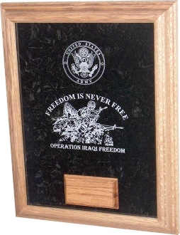 Awards Display Case, Laser engraved soldier Case