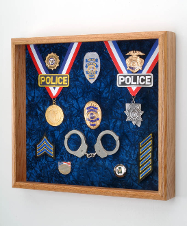 Law Enforcement Deluxe Awards Display Case