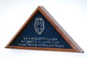 The finest law enforcement burial flag case anywhere, bar none. Each our flag display cases are constructed from the highest quality solid oak, walnut, cherry, or Mahogany.