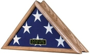 This beautiful Patriot flag case has a unique serpentine profile that looks outstanding mounted on a wall. Perfect to honor our distinguished military service members