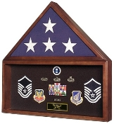 Large Flag and Memorabilia Display Cases