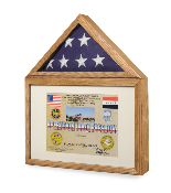 Flag display case - Flag shadow box,, flag and medals Case Military