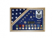 Military Shadow Box, Medal and flag display case