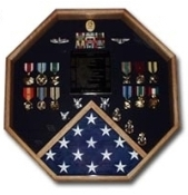 Octagon Military Shadow Box, military flag box
