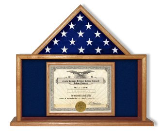 Flag and Certificate Case, Air Force Flag and Certificate Display Case