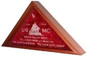 marine Corps gifts, marine Corps Flag Case - Large flag for 5ft x 9 ft flag, Burial Flag Case,Burial Display Case, Large flag display case, Memorial large Flag case