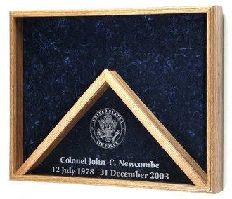 Deluxe Combo Awards Flag Display Case