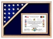 Flag Display Cases - Certificate Flag Shadow Box