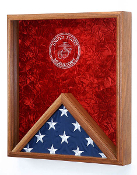 Marine Corps flag display cases