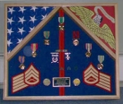 Marine Corps 2 Flag Shadow Box/Display Case