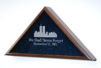 World Trade Center Flag Case, 911 Memorial flag display case