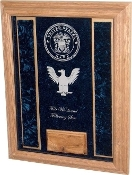 Deluxe Awards Display Case, Awards Display Case - Military Shadowbox with Personalized Glass