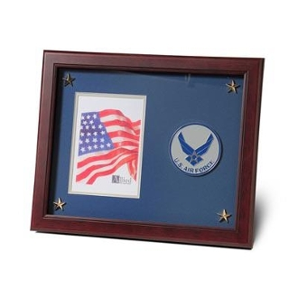Aim High Air Force Medallion Picture Frame 5 by 7