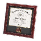Firefighter Medallion Certificate Frame