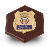 Police Department Medallion Paperweight