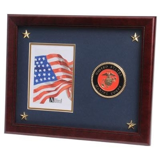 U.S. Marine Corps Medallion Picture Frame with Stars