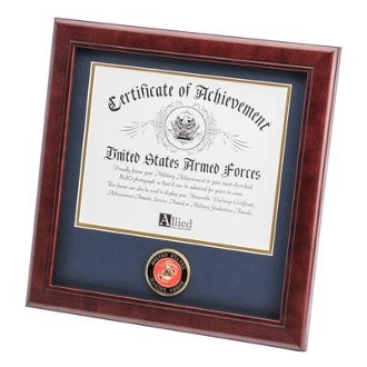 U.S. Marine Corps Medallion Certificate Frame