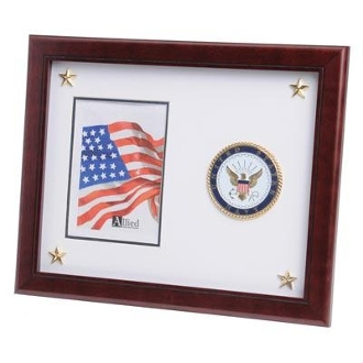 U.S. Navy Medallion Picture Frame with Stars