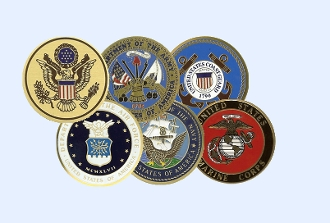 Military Medallions in color, great service medalions