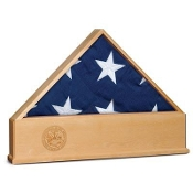 Flag Display Case with Engraved US Air Force Emblem