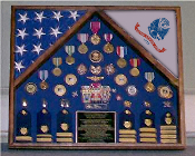 Army 2 Flag Shadow case, 2 Flag Army flag display case
