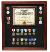 Military Certificate medal display case, Doc and Medal Frame