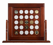 challenge coin display, Medium Swing Coin Display