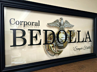 Marine Corps, Marine Girlfriend, Custom Family Gift, Military