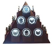 Pyramid Shaped Military Challenge Coin Display