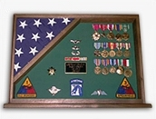 2  Flags display case - Wall Mounted box