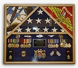 3 Flags Military Shadow Box