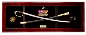USMC NCO Sword Display Case, Sword Display Frame