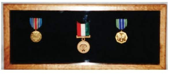 Small Medal Display Case, Small Medal Display Cases