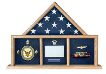 Medal Flag Combo Case Military Medal Display Case Shadow Box
