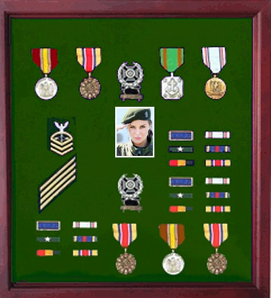 Army Flag and Photo display Case