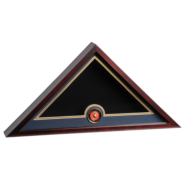marine Corps Flag Medallion Display Case