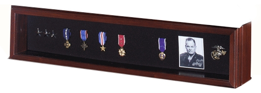 Medal display for a flag case